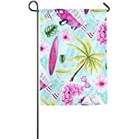 DFGTLY Fashion Personalized Garden Flag,Summer Tree Car Garden Flag-12
