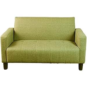 タンスのゲン ソファー 2人掛け ファブリック コンパクト おしゃれ グリーン 31200014 GR