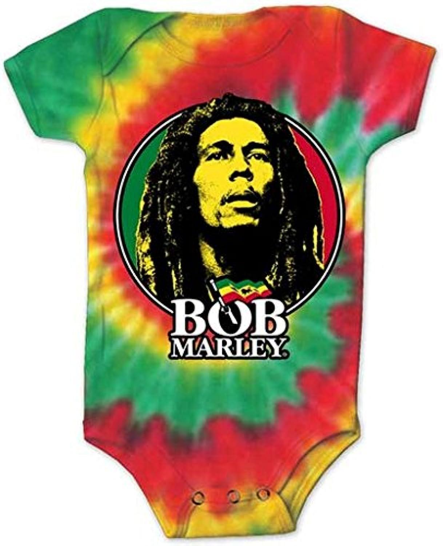 ボブ?マーリー Bob Marley Logo Circle Tye Dye Infant 赤ちゃん Baby Romper Tシャツ T-Shirt