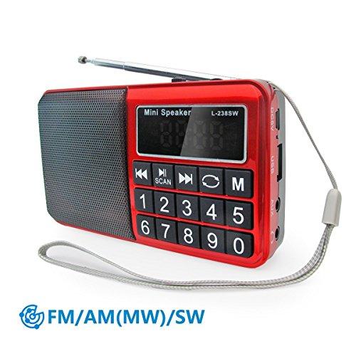 PRUNUSポータブルSW(短波)/FM/AM(MW)/SD...