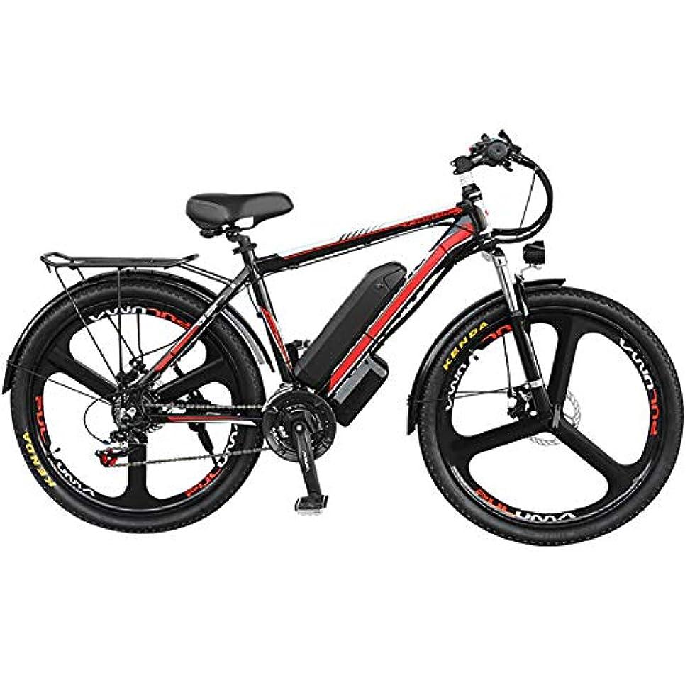 サミット露出度の高い彼電動自転車350Wモーター、電動アシスト、26インチホイール、取り外し可能な48Vリチウムイオンバッテリー、ダブルディスクブレーキ、電動自転車の27速変速、オフロード走行に使用