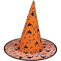 4つのハロウィン帽子ガーゼの高帽子のセット[オレンジ]