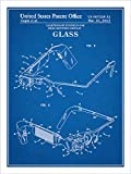 "Google Glassウェアラブルコンピュータ特許印刷アートポスター額なし青写真18"" x 24"""