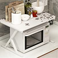 2段棚板安定したシンプルでモダンなキッチンの研究Bathroom50 * 40 * 38.5cm (色 : A)