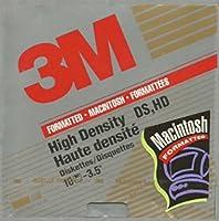 3M高密度DS, HD 3.5インチフロッピーディスク10枚パックFormatted for Macintosh