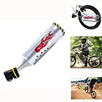 Nrpfell 自転車排気サウンドシステム付き 6個 調整可能なターボオートバイの音響、子供モーターサウンドバイクエンジンサイクリングアクセサリー
