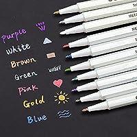 EMY メタリック マーカーペン 10色セット 水性