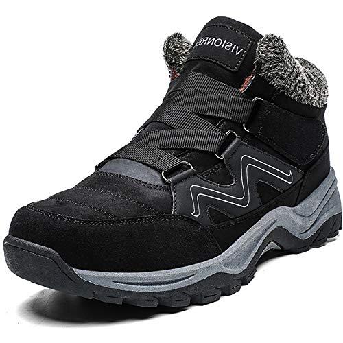 [visionreast] 22.5-28cm 防寒 ブーツ メンズ 防水 防滑 ハイキングシューズ レーディス 裏起毛 スノーブーツ 登山靴 レースアップ 防寒靴 綿靴 バイク用 暖かい スノーシューズ アウトドア トレッキング