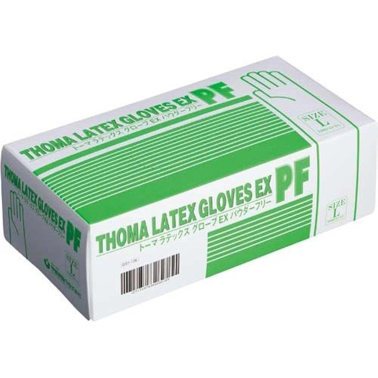 違法必要条件追加する宇都宮製作 トーマラテックスグローブEX粉無L100枚入×10