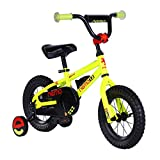 ROCKBROS(ロックブロス) 子供用 自転車 かわいい 12インチ 男の子にも女の子にも小さなお子様も運転しやすいリバースブレーキモデル児童用 お子様のこだわりにもぴったりフィットするカラー4色サイズ4種 合計16バリエーション12インチイエロー NE