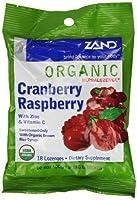ZAND Herbalozenge Organic Lozenges, with Zinc & Vitamin C, Cranberry Raspberry, 12-18 lozenge bags (216 Lozenges)