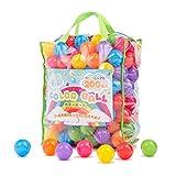 coccoro カラーボール 200個入り 7色 直径6cm 収納バッグ付き ポリエチレン製 おもちゃ(ボールプール/キッズハウス用)