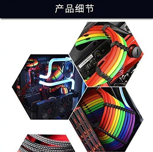 『Novonest 3.4mm スリーブケーブル PCケーブルコーム ガイド スリーブガイド (24点セット 24-pinx4、8-pinx12、 6-pinx8)黒い【CM245】』の3枚目の画像