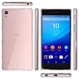 OVER's エクスペリア Z5 ケース / Xperia Z5 カバー ( SOV32 / SO-01H / 501SO ) 0.8mm TPU 4点セット ( Xperia カバー *1 & 液晶保護フィルム*1 & ミニクロス*1 & 埃取りセット*1 ) 365日保証付き