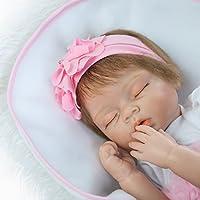rayish Rebornベビー人形ソフトSilicone 22インチ55 cm新生児ベビー人形Lifelike Vinyl Dollsピンクドレスプリンセス