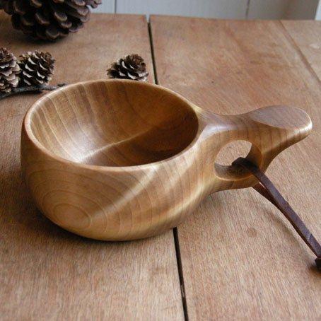 ククサ Kuksa Lサイズ フィンランド製 木製カップ