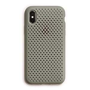 AndMesh iPhone XS/X ケース メッシュケース Qi 充電 対応 耐衝撃 | クレイグリーン AMMSX001-CGN