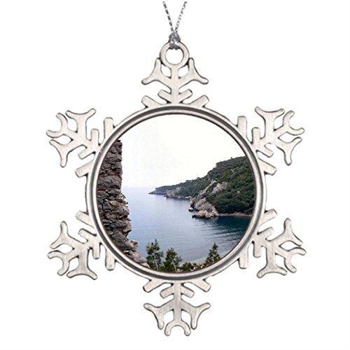 クリスマススノーフレーク飾りツリーブランチ装飾MT。Olympusオリンポストルコ山水公園スノーフレークオーナメントツリー