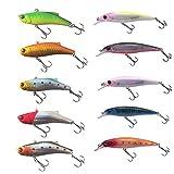 ルアー ミノー バイブレーション 10個 シーバス アジ ヒラメ 釣り など 最適