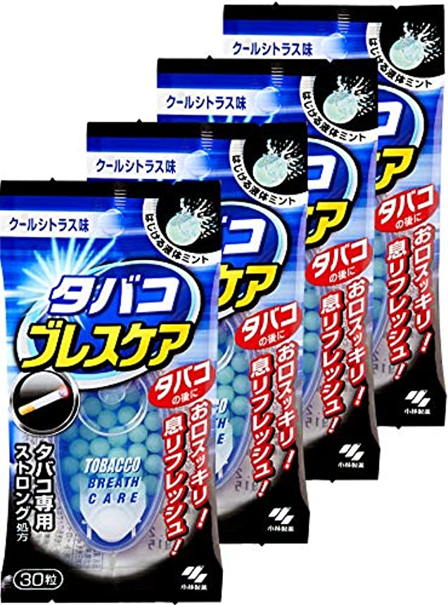 符号三乱気流【まとめ買い】タバコブレスケア クールシトラス味(ストロングタイプ) 30粒×4個(120粒)