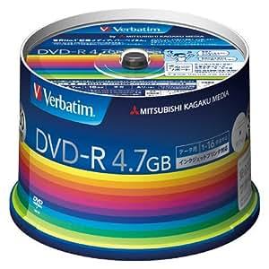Verbatim DVD-R 4.7GB 50枚 DHR47JP50V3