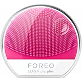 FOREO Luna Play Plus Portable Facial Cleansing Brush, Fuchsia, 87g