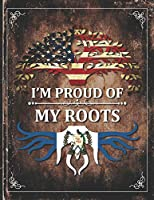 Im Proud of My Roots: Vintage Guatemala and American Flag Personalized Gift for Coworker Friend  Undated Planner Daily Weekly Monthly Calendar Organizer Journal