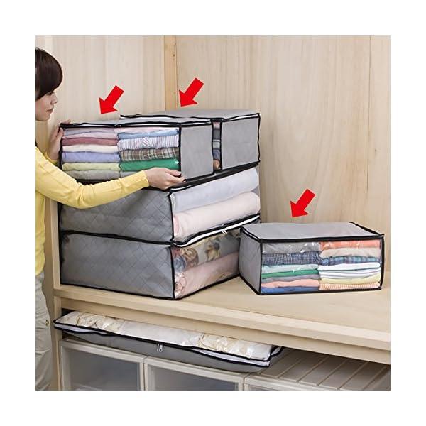 アストロ 活性炭 衣類収納ケース 3枚組 グレ...の紹介画像5