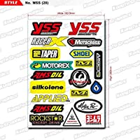 KUNGFU GRAPHICS カンフー グラフィックス MOTOREX(モトレックス) レーシングスポンサーロゴ マイクロデカールシート(ホワイト)
