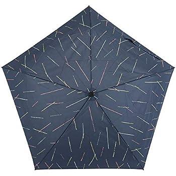 小川(Ogawa) 折りたたみ傘 雨晴兼用雨傘 ワンタッチ自動開閉 軽量 50cm 5本骨 tenoé/Casual ひざしのシャワー UV加工 宝石型飾りボタン付き 途中で飛び出さない安全装置付 92075