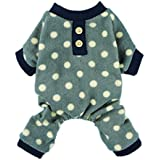Fitwarm Adorable Polka Dots Fleece Dog Pajamas Pet Coats Soft Pjs Apparel, X-Small