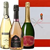 スパークリングワイン飲み比べギフト クレマン・ド・ボルドー ブリュット ロゼ キュヴェ・イコン コート・デュ・ローヌ 750ml×3本