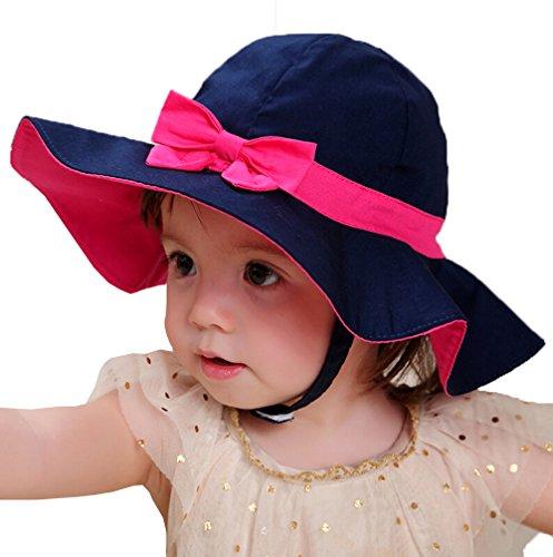 (ウォーム ハバー) Warm Habor ハット ベビー キッズ 子ども 日よけ帽子 おしゃれ UVカット 夏 女の子 無地 蝶結びリボン飾り 日焼け防止 焼け止め キャップ 紫外線対策