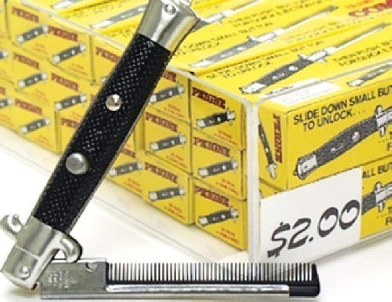タイピスト立派な蓮One Dozen Switchblade Comb [並行輸入品]