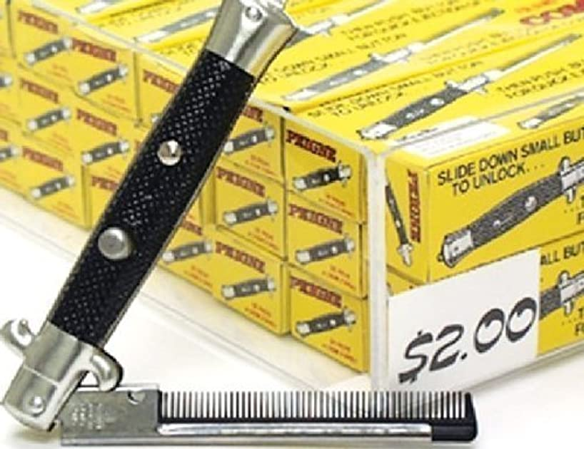 One Dozen Switchblade Comb [並行輸入品]