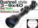 Bushnell刻印 ライフルスコープレプリカ 3-9x40(イルミネートレティクル)