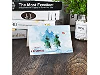 グリーティングカード 1 Pcクリスマスグリーティングカードクリスマスバレスカード封筒招待状カードギフトカード(カラフル)
