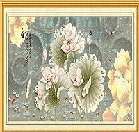 Chunxd カスタム写真3D壁紙中国風自然壁壁画ヴィンテージ花リビングルームの寝室の家の装飾の背景の壁-450X300Cm