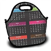 2019カレンダー ランチバッグ 大容量弁当バッグ トートバッグ 手提げバッグ お弁当入れバッグ 面白い 通勤 通学 バッグ 可愛い 創意柄