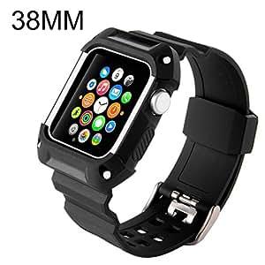 Apple Watch バンド N.ORANIE Apple Watch Series 2とApple Watch Series1に対応 アップルウォッチ バンド バンドケース付き スポーツバンド 交換ベルト 耐衝撃 防汗 (38mm,ブラック)