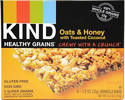 KIND Healthy Grains【カインド ヘルシーグレイン オーツ&ハニー with トーステッド ココナッツ グラノー...