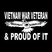 """ベトナム帰還兵戦争退役軍人車デカールホワイト7.5"""""""