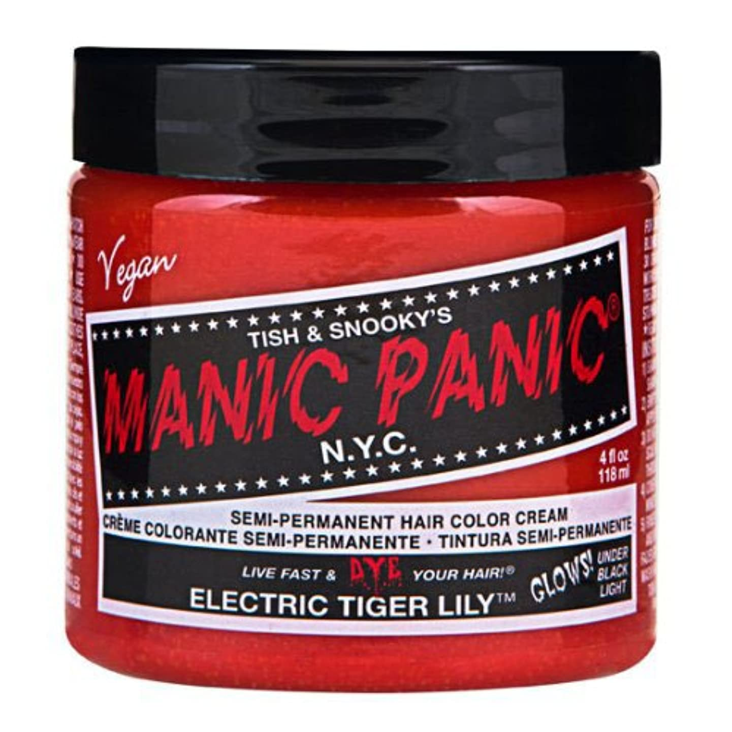 シュリンク哲学的大混乱マニックパニックカラークリーム エレクトリックタイガーリリー