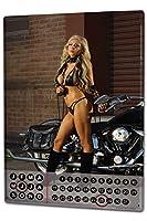 カレンダー Perpetual Calendar Pin Up Adult Art hot girl motorcycle Tin Metal Magnetic