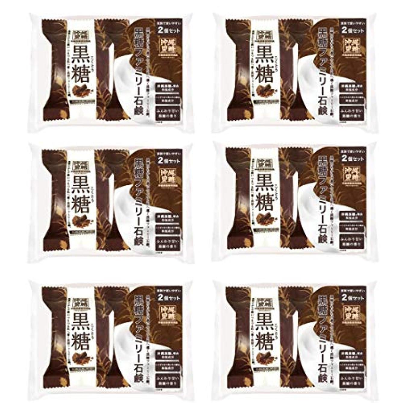冷蔵庫大学悲しむ【6個セット】ペリカン石鹸 ファミリー黒糖石鹸 80g×2個