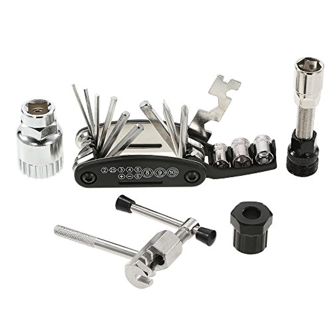 父方の加速度アメリカLixada 自転車工具セット 多機能修理ツール バイクメンテナンスセット 整備に必要な工具 折りたたみ 携帯便利
