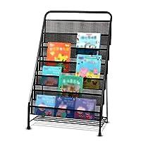 子供用棚アイアンアート幼稚園の本ディスプレイスタンド/本棚学校、家族、会社、図書館に適しています (色 : 6-tier, サイズ さいず : Piano black)