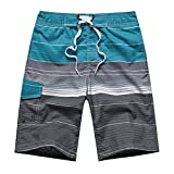 APTRO(アプトロ)メンズ サーフパンツ ショーツ メッシュインナーサポータ付き 水着 海水パンツ 海パン オシャレ ゴムウエスト サーフトランクス #1506ブルー L