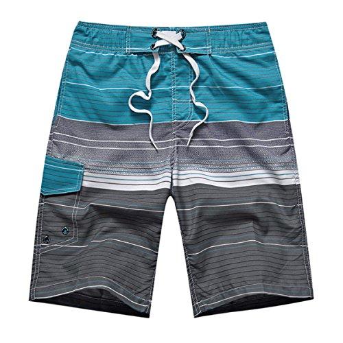 APTRO(アプトロ)メンズ サーフパンツ ショーツメッシュインナーサポータ付き水着 海水パンツ 海パン オシャレ ゴムウエスト サーフトランクス#1506ブルーXL