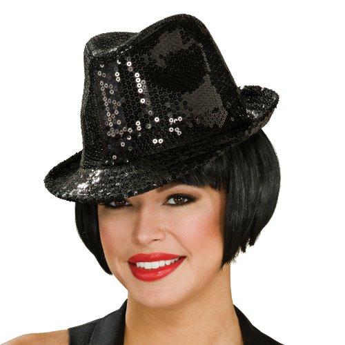 Sequin Fedora Hat Adult スパンコールフェドラハット大人用♪ハロウィン♪サイズ:One Size / Rubies Costumes